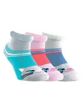 Носки хлопковые детские SOF-TIKI (махровые с отворотом) 6С-19СП, размер 12, цвет белый-св.-фиолетовый