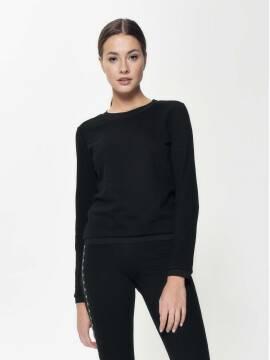 джемпер женский ультракомфортный фактурный свитшот LD 888 18С-639ТСП, размер 170-84, цвет black