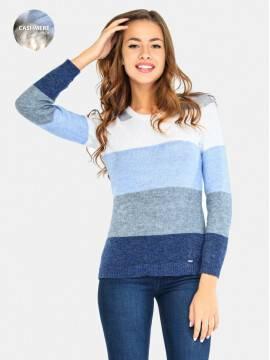 Джемпер женский Джемпер вязаный LDK 010 16С-81СП, размер 158,164-84, цвет голубой