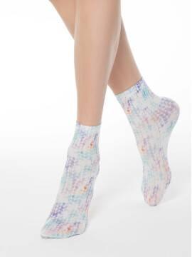 носки полиамидные женские носки с акварельным принтом FANTASY 70 17С-34СП, размер 23-25, цвет mix