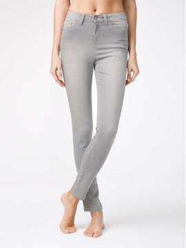 брюки джинсовые ультраэластичные джинсы с высокой посадкой CON-117 CON-117, размер 164-102, цвет light grey