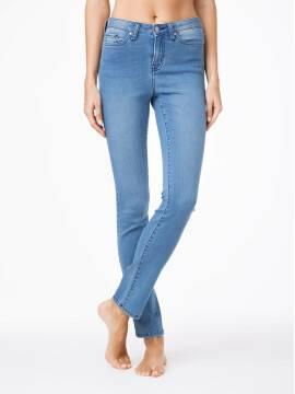 джинсы женские классические ультракомфортные прямые джинсы с высокой посадкой CON-47 CON-47, размер 164-90, цвет темно-синий