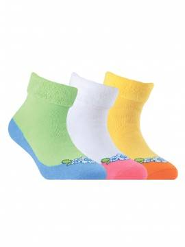 Носки хлопковые детские SOF-TIKI (махровые с отворотом) 6С-19СП, размер 16, цвет белый-св.-розовый