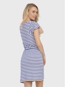 платье женское платье LPL 733 17С-374ТСП, размер 158,164-96-102, цвет белый-василек