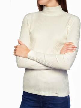 Джемпер женский Классическая водолазка в рубчик 822 18С-509ТСП, размер 170-100, цвет nero