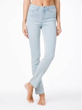 джинсы женские классические ультракомфортные прямые джинсы с высокой посадкой CON-45 CON-45, размер 164-102, цвет голубой