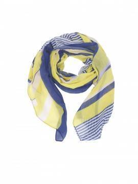 шарф женский CS010 , размер 180,0х90,0, цвет желто-синий