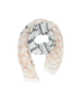 шарф женский CS015 , размер 180,0х90,0, цвет серо-розовый