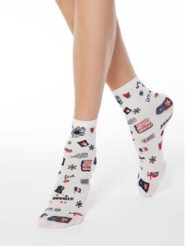 носки полиамидные женские носки с ярким принтом FANTASY 70 17С-34СП, размер 23-25, цвет mix