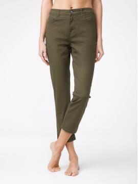 брюки джинсовые укороченные джинсы со средней посадкой CON-139A CON-139A, размер 170-94, цвет khaki
