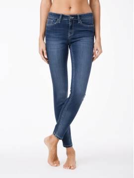 Джинсы женские классические Классические джинсы Skinny cо средней посадкой 756/4909D 756/4909D, размер 170-102, цвет синий