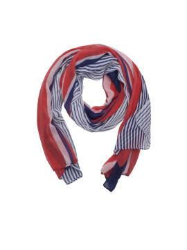 Шарф женский CS011 , размер 180,0х90,0, цвет красно-синий
