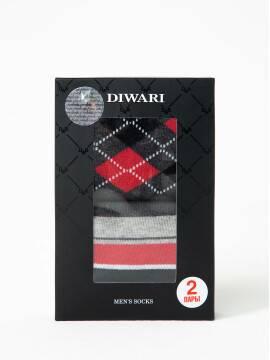 носки мужские хлопковые носки DIWARI в фирменной коробке (2 пары) 17С-68СП, размер 25, цвет темно-серый
