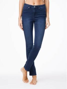 джинсы женские классические ультракомфортные прямые джинсы с высокой посадкой CON-46 CON46, размер 164-90, цвет темно-синий