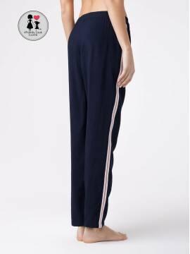 брюки женские фактурные брюки с лампасами SPORT GLEAM 18С-699ТСП, размер 164-84-90, цвет dark navy