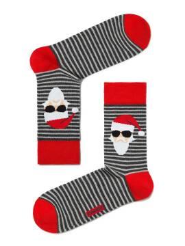 Носки мужские Новогодние 17С-53СП, размер 27-29, цвет темно-серый