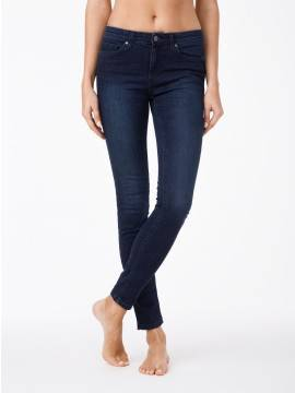 джинсы женские моделирующие моделирующие джинсы skinny со средней посадкой 623-100D 623-100D, размер 170-102, цвет темно-синий