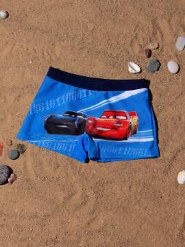 трусы купальные для мальчиков плавки CARS с рисунками тачки ©disney , размер 52-45 (98),цвет fast blue