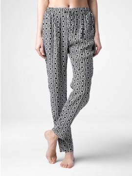 Легкие брюки с монохромным принтом LETICIA
