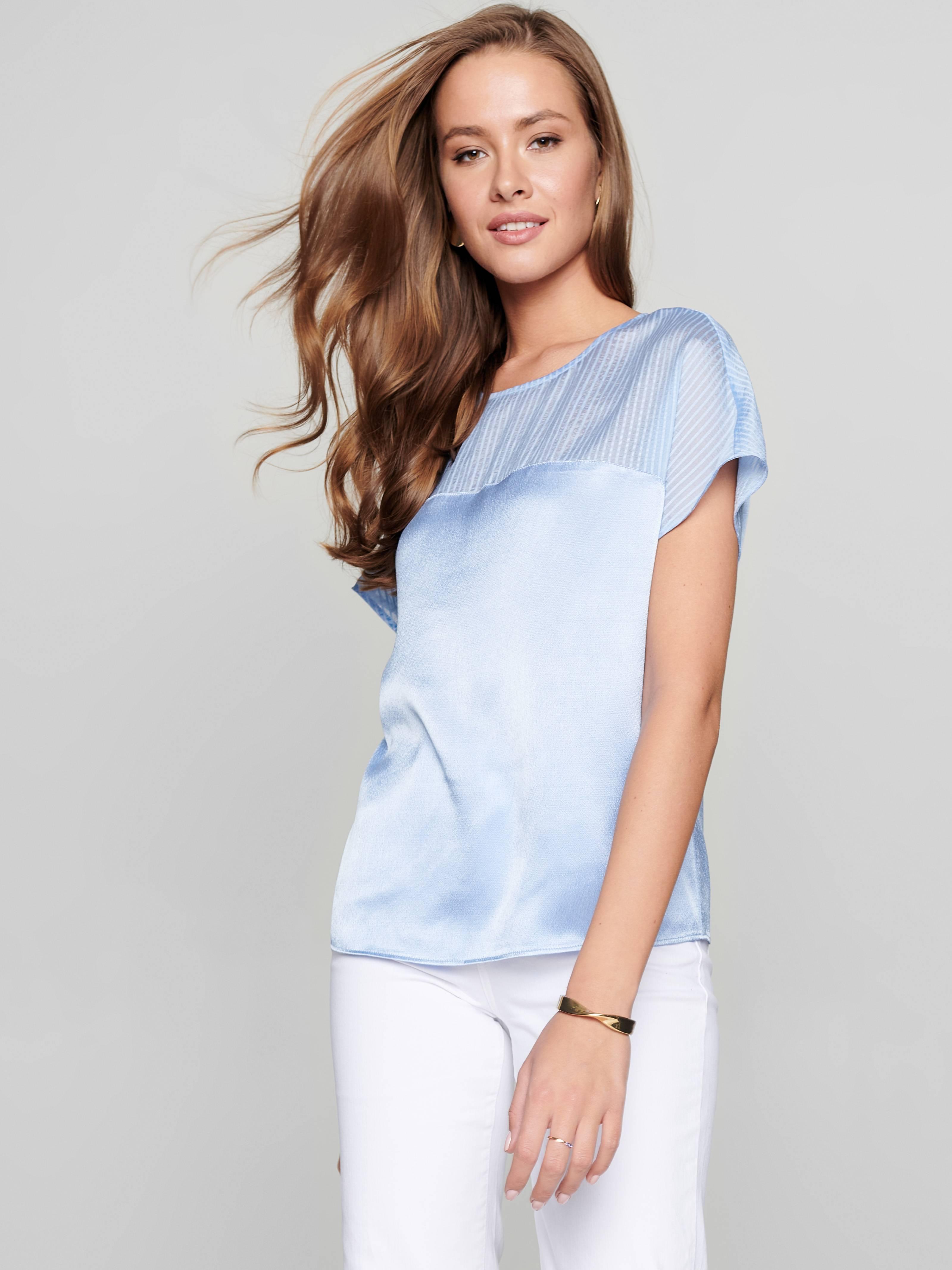 Блузка женская ⭐️ Блузка с легким блеском из вискозы премиального качества
