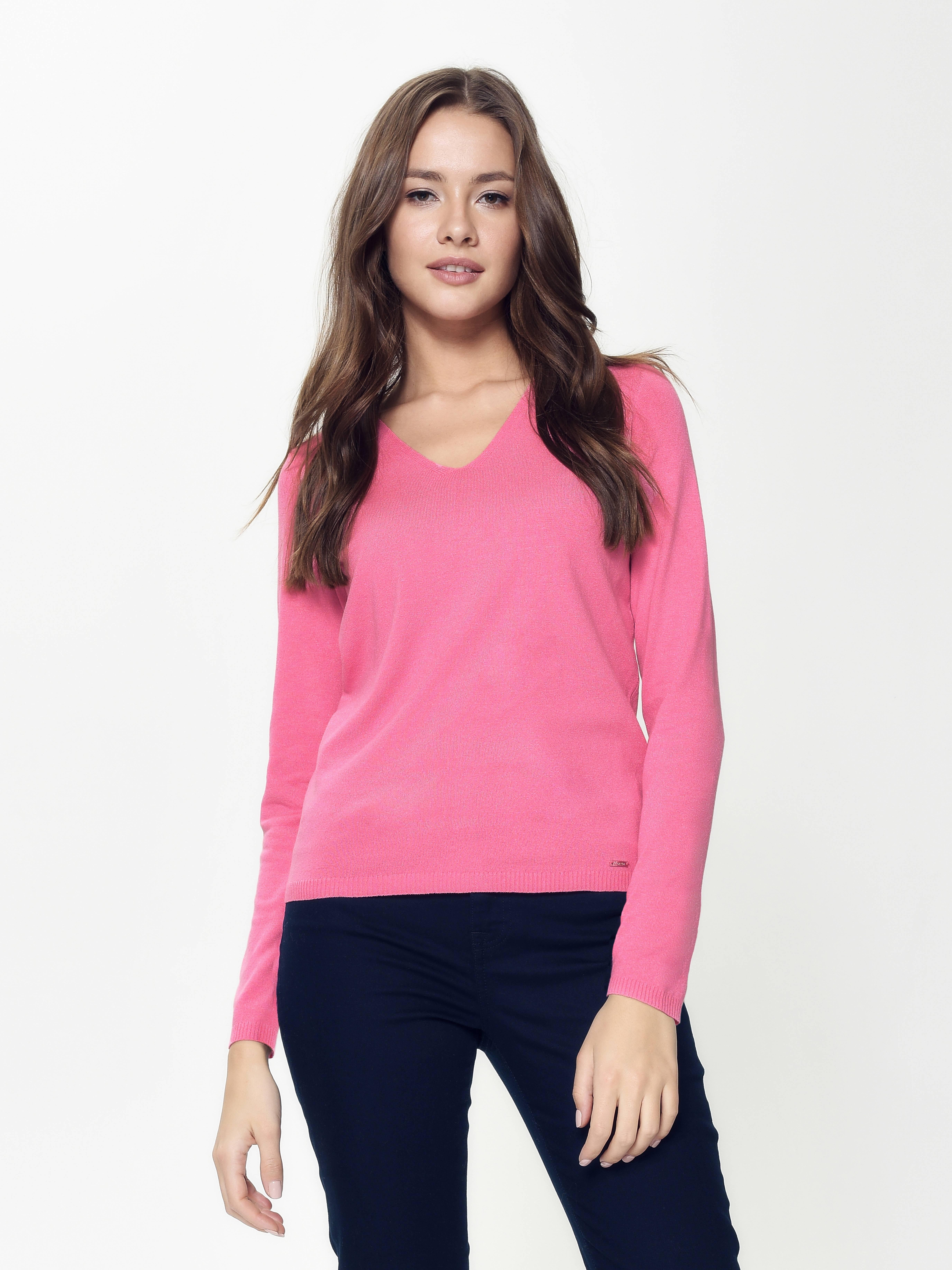 Джемпер женский ⭐️ Пуловер из пряжи с вискозой премиального качества LDK044 ⭐️