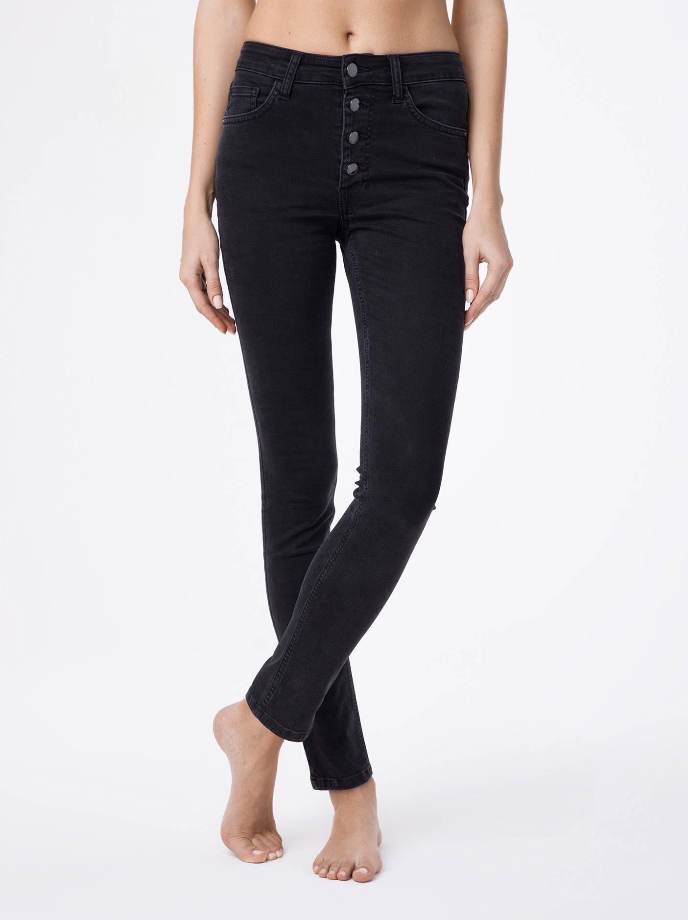 Брюки джинсовые женские ⭐️ Моделирующие eco-friendly джинсы с высокой посадкой CON-120 ⭐️
